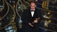 Actor Mark Rylance accepts his