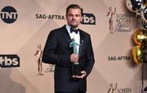 Leonardo DiCaprio poses in the