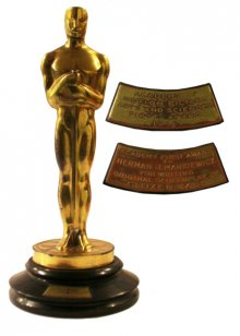 Award for Best Original Screenplay presented to Herman J. Mankiewicz in 1941 for writing Citizen Kane. Image from natedsanders.com.