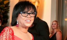 Cheryl Boone Isaacs arrives at the governors ball following this year's Academy Awards.