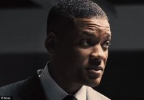 Drama: The 48-year-old Django Unchained star made fun of Smith's accent in the film Concussion (above) and then implied black actors should 'act better' if they want to win awards