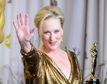 File photo dated 26/2/2012 of Meryl Streep with the Best Actress award, received for The Iron Lady, at the 84th Academy Awards at the Kodak Theatre, Los Angeles.