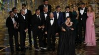 Producer Nicole Rocklin accepts the Oscar for Best Picture for the film