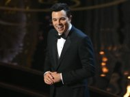 Seth MacFarlane alienates Chris Brown, Mel Gibson and George Clooney during his often funny debut as Academy Awards host Sunday night.