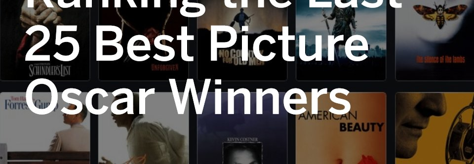 Oscar winners for Best Picture