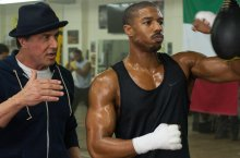 Sylvester Stallone and Michael B. Jordan in Creed.