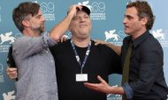 The Master - Paul Thomas Anderson, producer Harvey Weinstein and actor Joaquin Phoenix