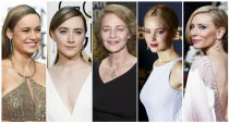 The Oscar nominees for best actress are (left to right) Brie Larson, Saoirse Ronan, Charlotte Rampling, Jennifer Lawrence, Cate Blanchett.