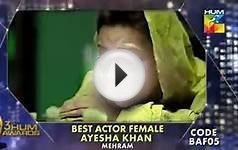 Best Actress Female Nominations AWARD ON HUM TV 2015