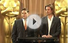 Brad Pitt and Jonah Hill at the 84th Academy Awards