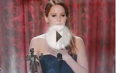 JENNIFER LAWRENCE - BEST ACTRESS SPEECH- SAG AWARD 2013