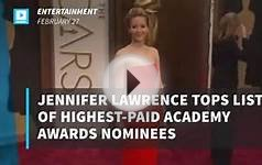 Jennifer Lawrence tops list of highest-paid Academy Awards