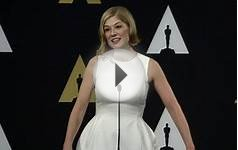 Oscars Nominee Luncheon 2015: Rosamund Pike Backstage