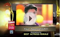 SIIMA Awards 2015 - Nominations For Best Actress - Telugu